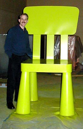 Tim and 300% Mammut Chair, IKEA Billboard Campaign