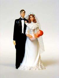 Bride and Groom Cake Topper for Sitcom