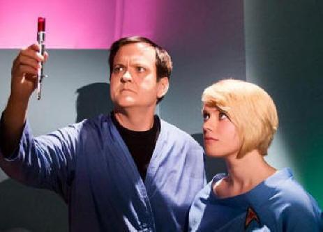 Larry Bones as Bones and Abbey Hazel as Nurse Temple, Star Trek Continues Ep2, Lolani