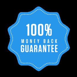 100 % Money-back Guarantee