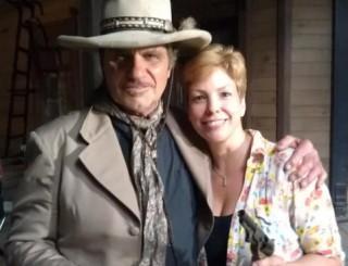 Martin Kove as the Mentor, with Lisa Hansell, Six Gun Savior