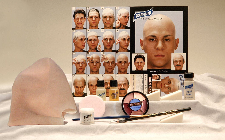 Bald Head Cap Kits and Makeup
