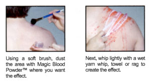 whipping effect using magic blood powder™