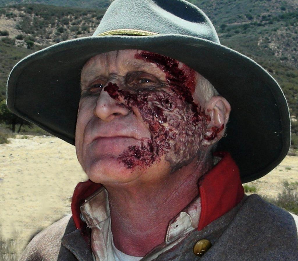 Zombie Makeup - the General, played by John Branagan in Six Gun Savior - Makeup by Tim Vittetoe, ImpaQt FX