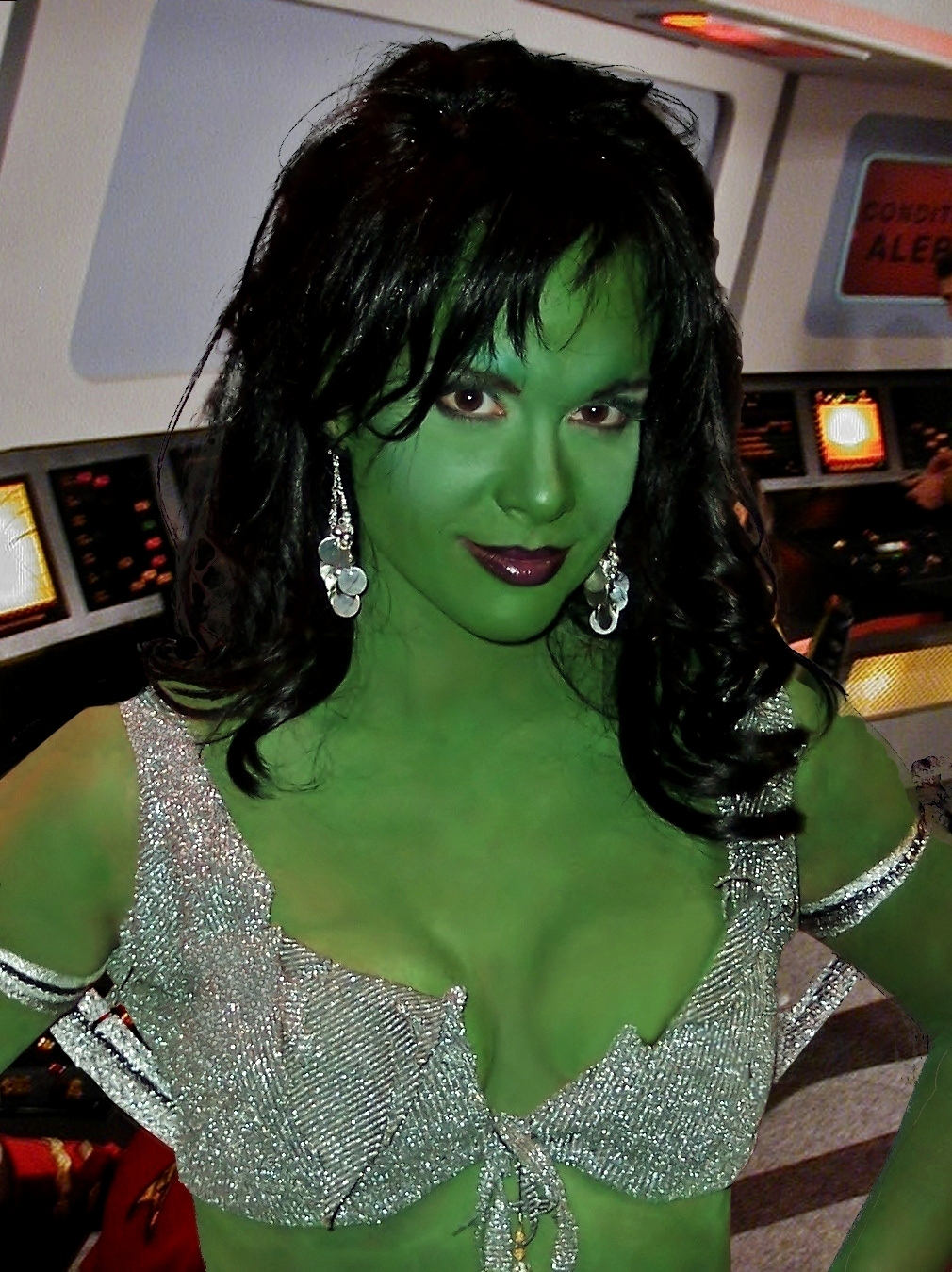 Chase Masterson as Xela, Star Trek: Of Gods and Men, Makeup by Tyla Smith and Tim Vittetoe