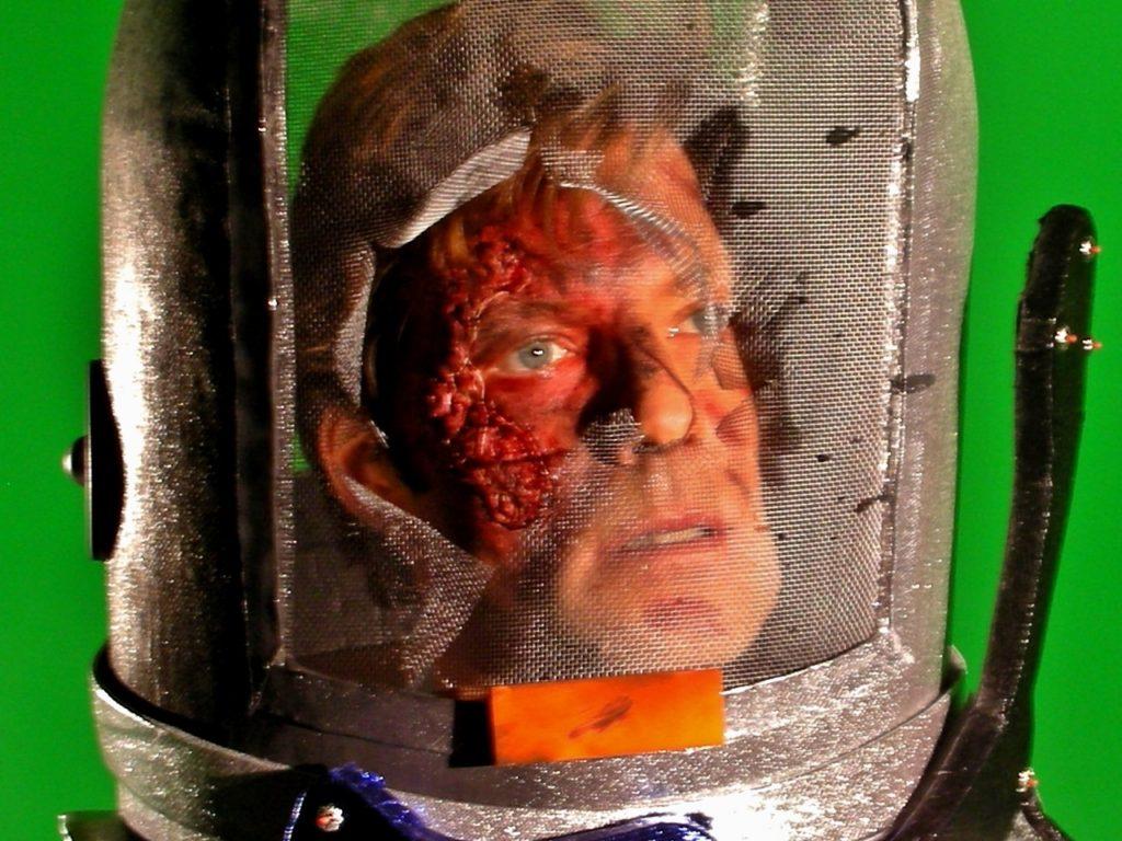 Jamie Bamber as Simone, Severe Radiation Burn, Star Trek Continues Ep1, McNulty Nielsen Studios - Sculpt, Application by Tim Vittetoe, ImpaQt FX