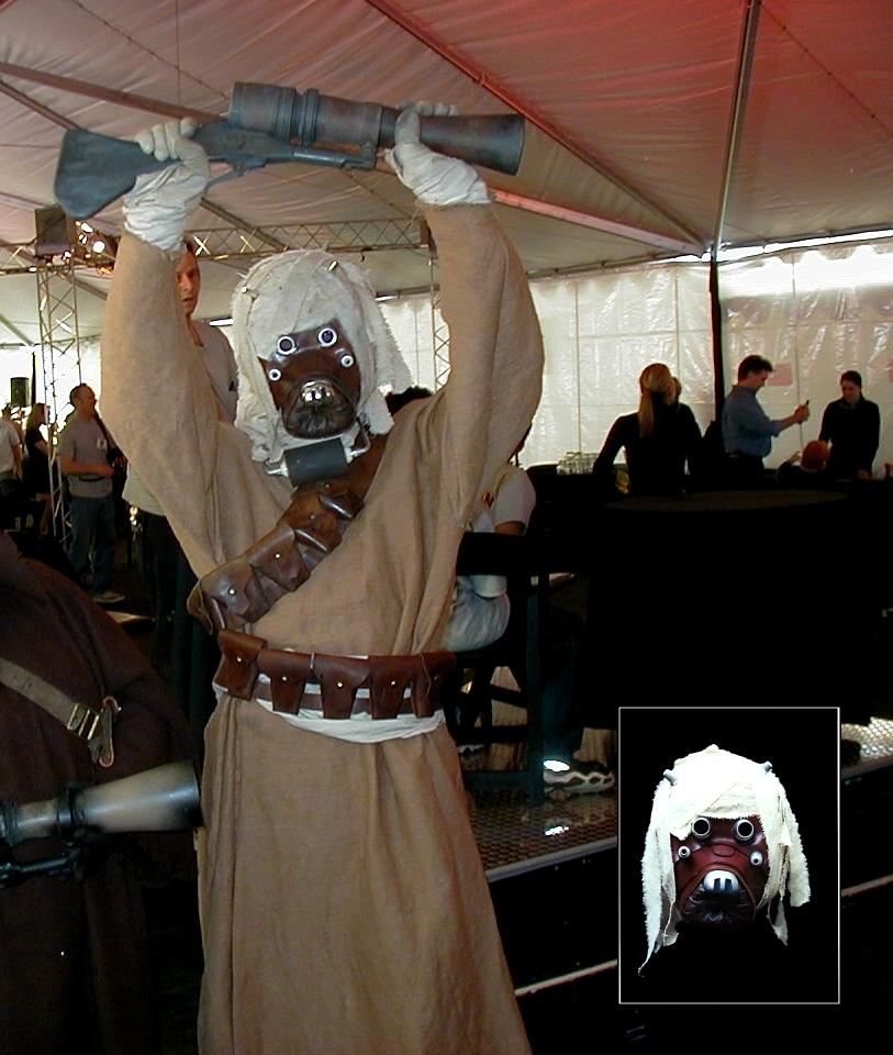 Tusken Raider Costume at Star Wars: Episode I Fund Raiser