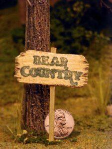 Miniature Bear Country Sign for Children's TV Pilot