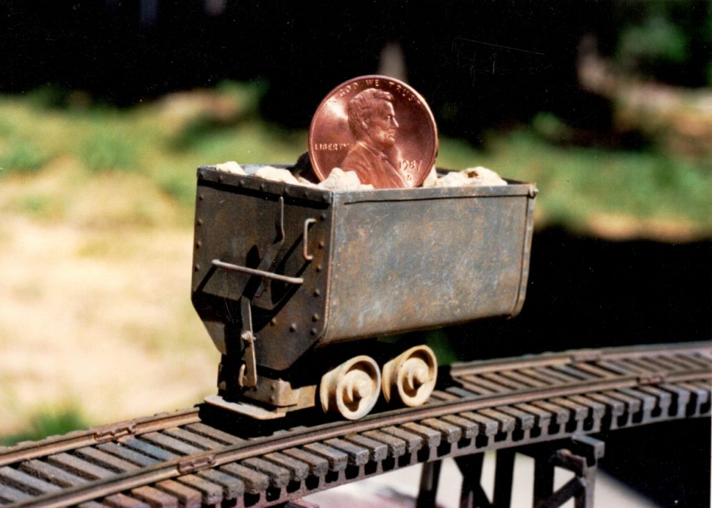 Mining Car Miniature, 1/87 scale, Scratch-built Trestle by Tim Vittetoe