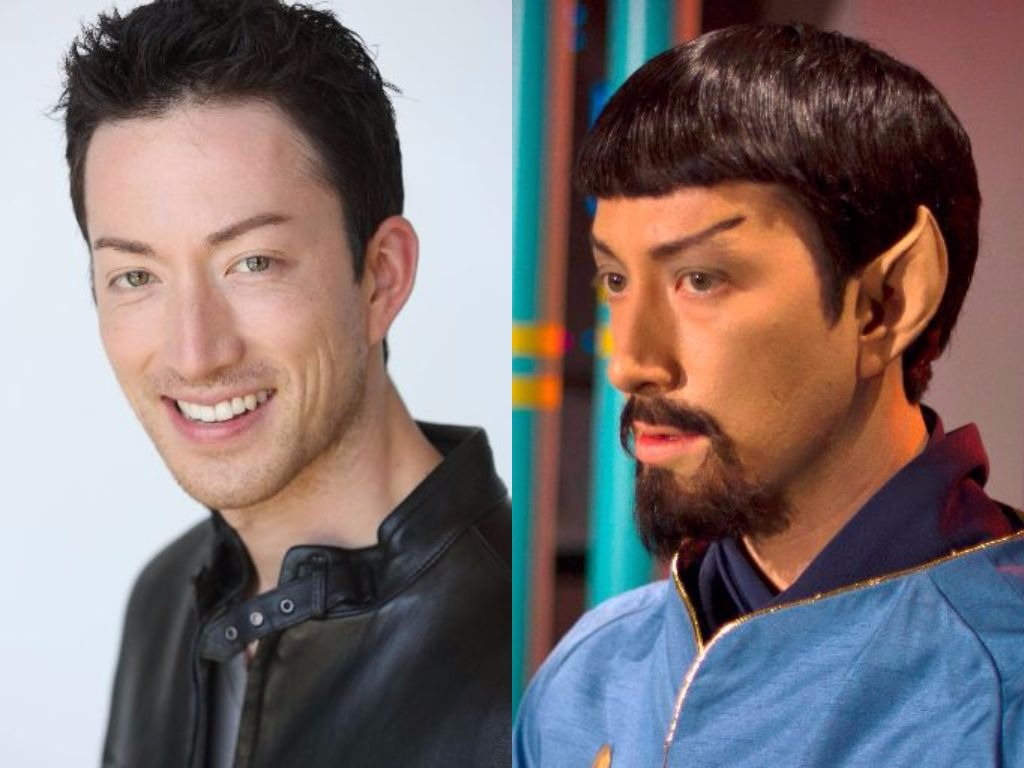 Todd Haberkorn Before and After in Star Trek Continues, Ep 3, The Fairest of the Them All - Makeup by ImpaQt FX