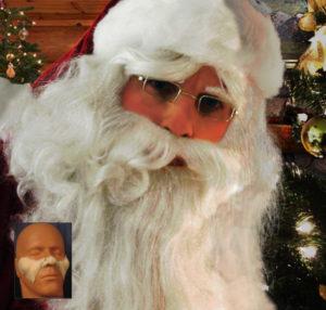Santa with makeup appliances