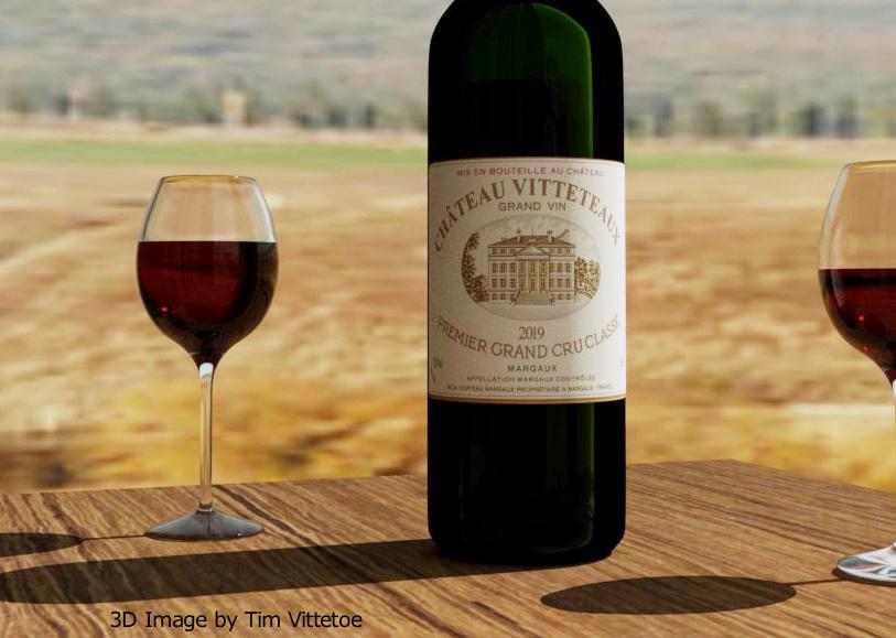 Chateau Vitteteaux Bordeaux Wine Bottle
