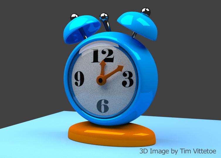 Stylized Clock 3D Digital Image by Tim Vittetoe