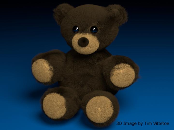 Fuzzy Bear 3D Digital Image