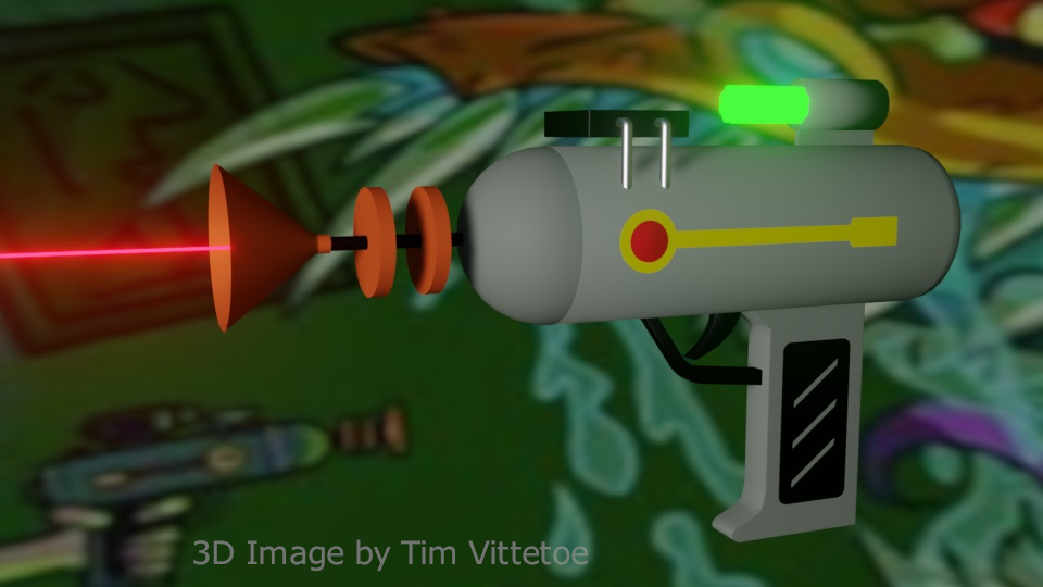 Laser Gun Inspired by Rick and Morty