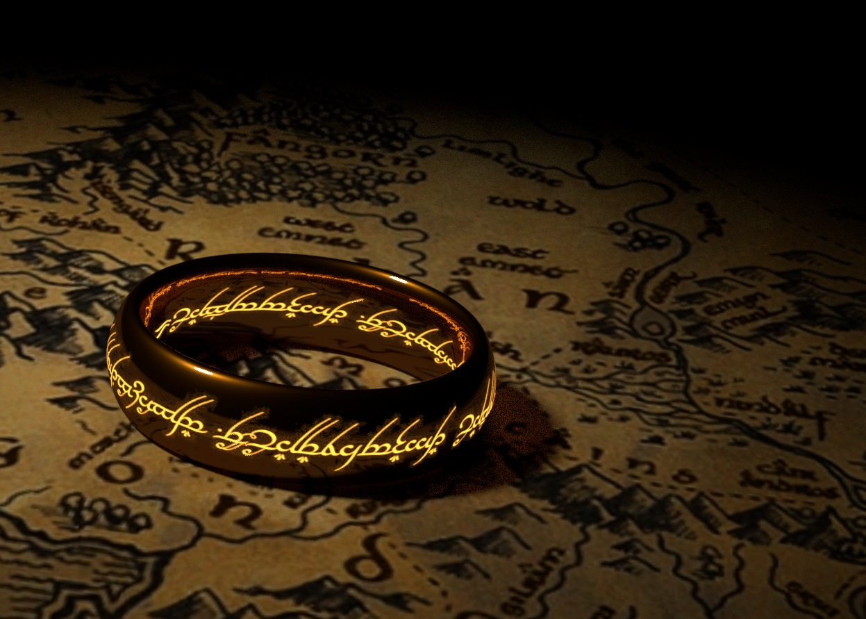 Gold Ring with Inscription 3D Digital Image