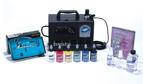 Airbrush Kit with SFX Airbrush Makeup and Airbrush Cleaner