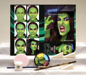 Contents of Witch Makeup Kit