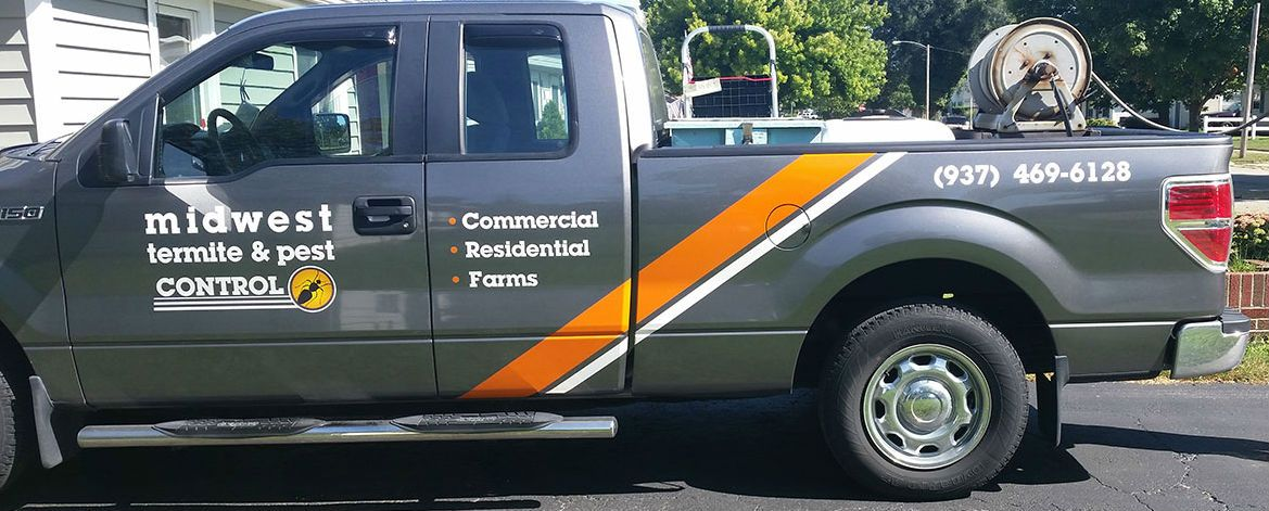 A truck that provides pest control in Dayton, OH