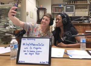 Picture of Vanessa Waker, DO and Angela Trapp, MSW at the Joy of Medicine On Call Podcast Interview