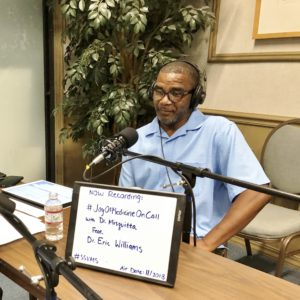 Picture of Doctor Eric Williams with Joy of Medicine On Call Podcast interview