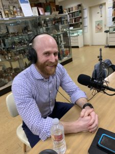 Picture of Zachary Nicholas pictured at the Joy of Medicine On Call Podcast Interview
