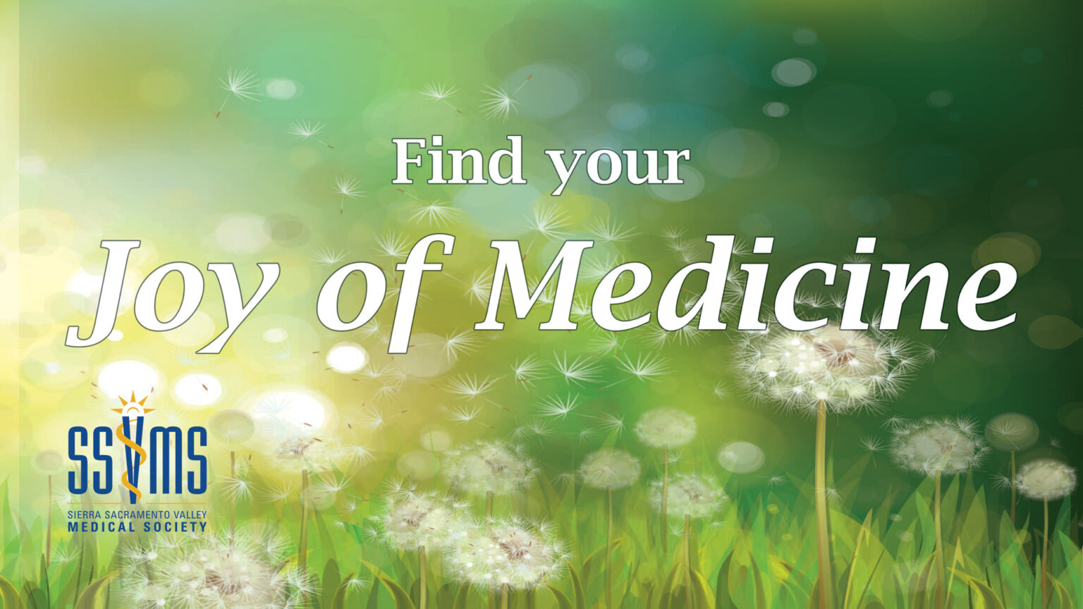Joy of Medicine banner with SSVMS logo in the bottom left corner