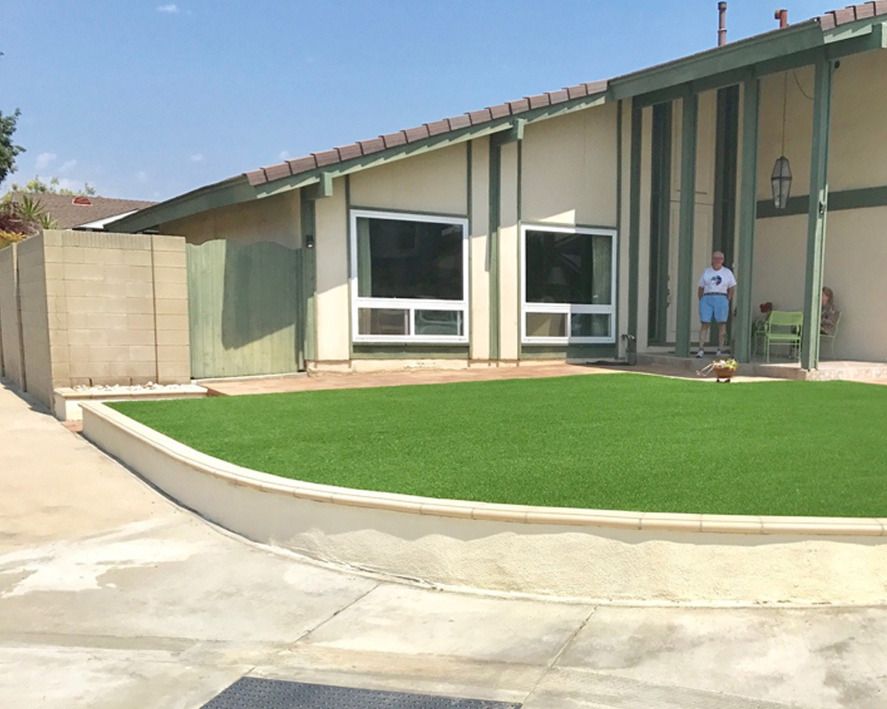 After turf installation