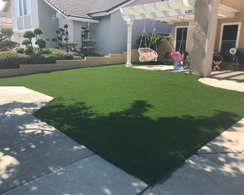 turf in front yard
