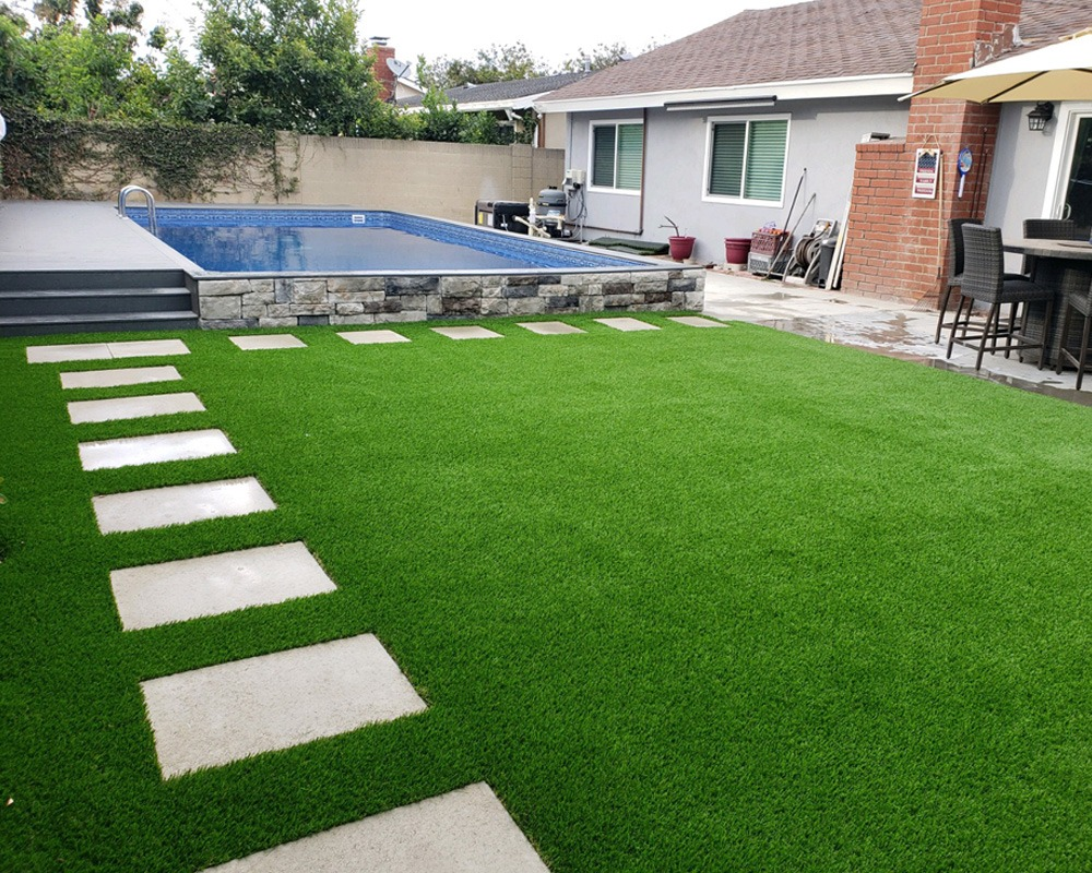 Turf by pool area