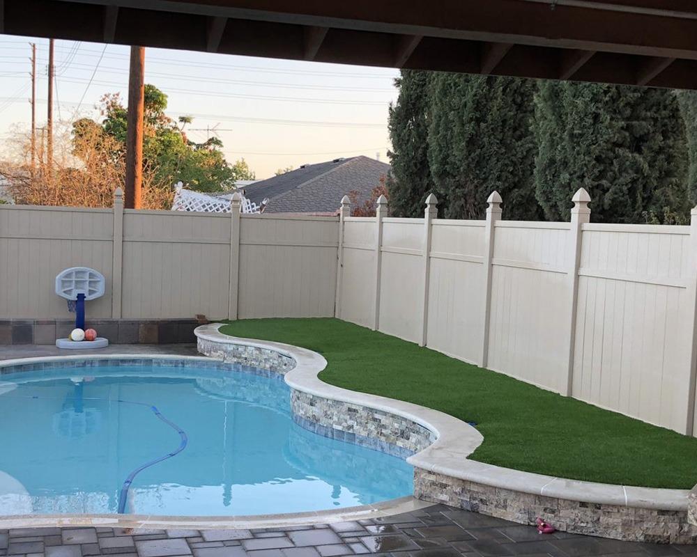 Backyard with pool area
