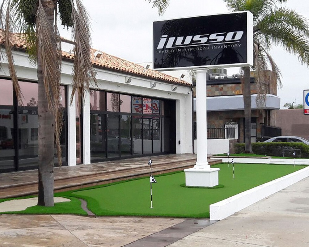 Commercial Turf at Dealership