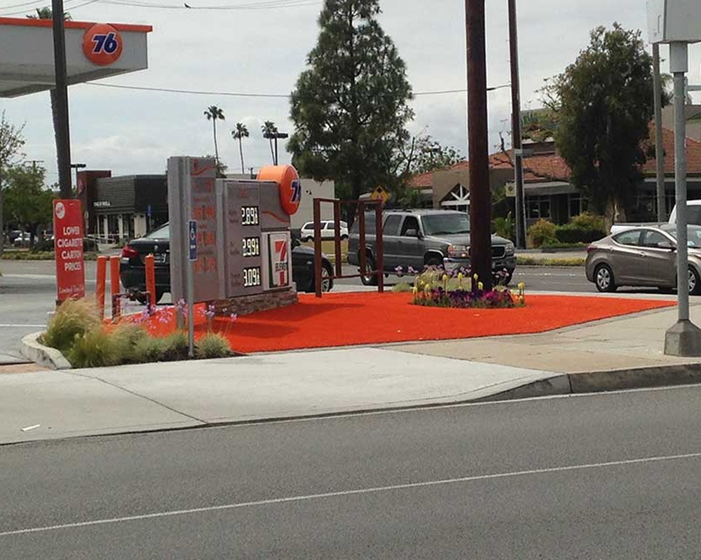 Commercial Turf Gas Station Instalation