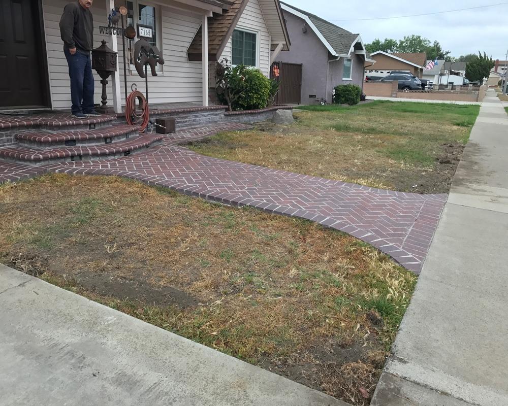 before turf installation