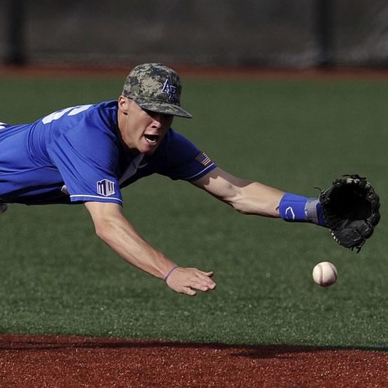 Turf on baseball field