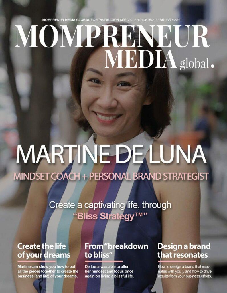 Martine De Luna Cover of Mompreneur Media