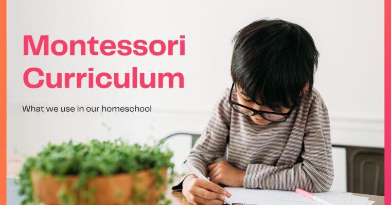 Montessori Homeschool Curriculum for Preschoolers & Kindergarteners