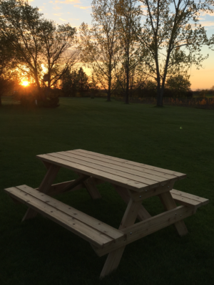 Customizable picnic table - 6ft cedar