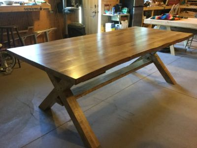 Harvest Table - stained and finished