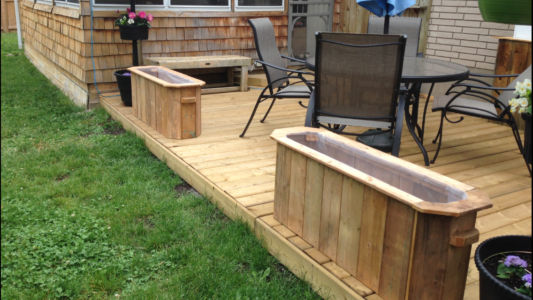 Custom planters - for any size deck!