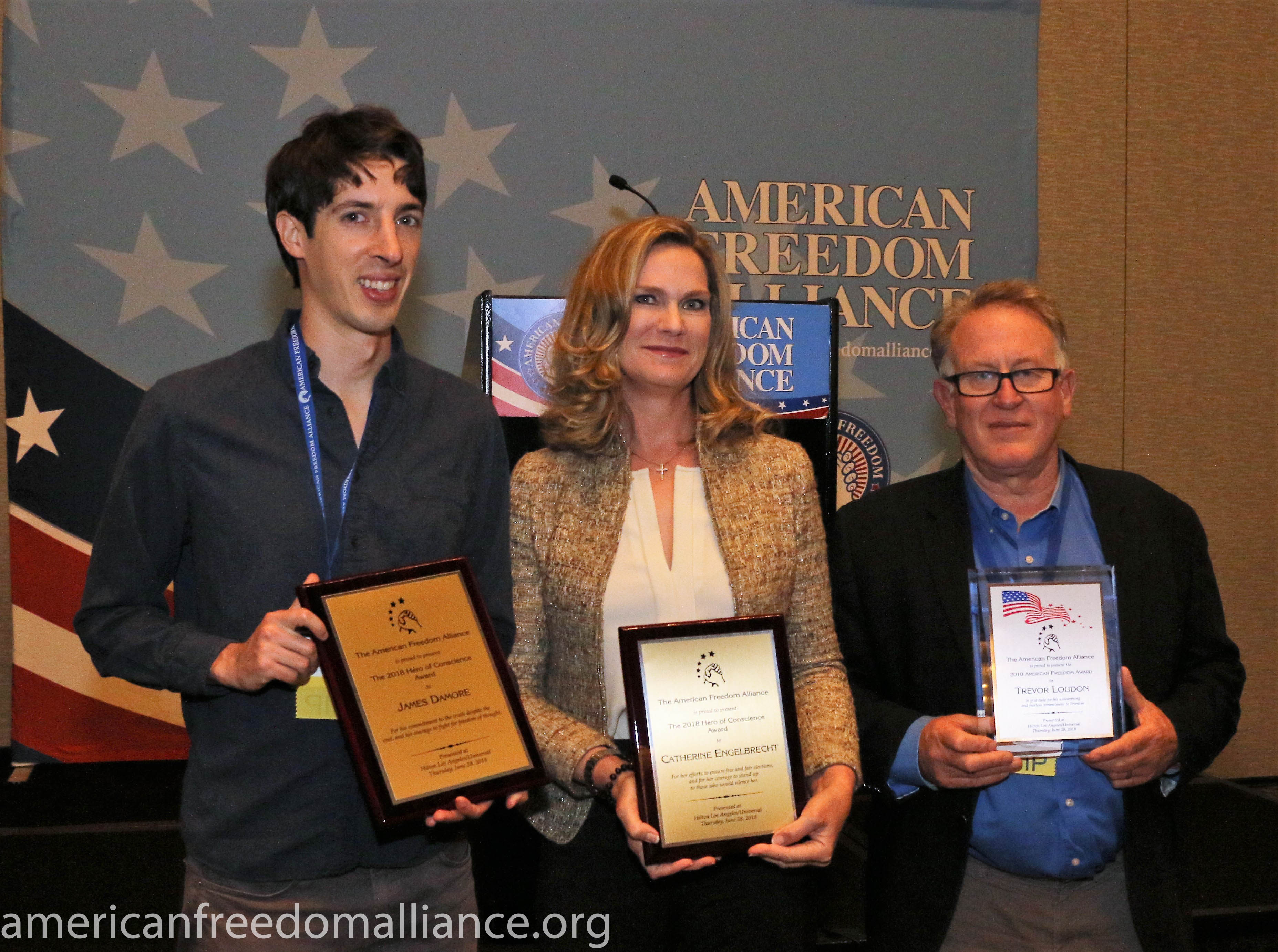 Awardees Damore, Engelbrecht, Loudon