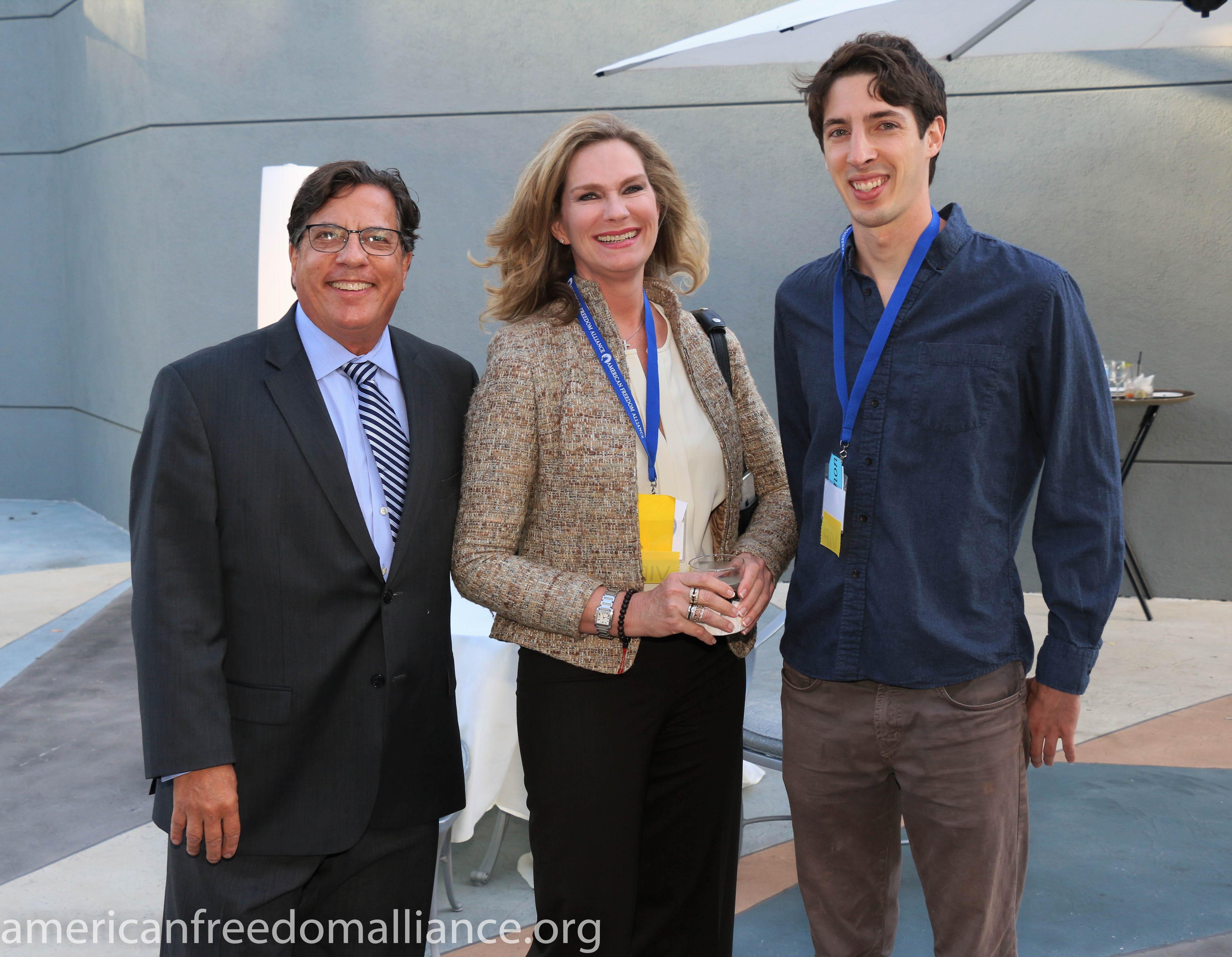 Bill Becker, Catherine Engelbrecht and james Damore