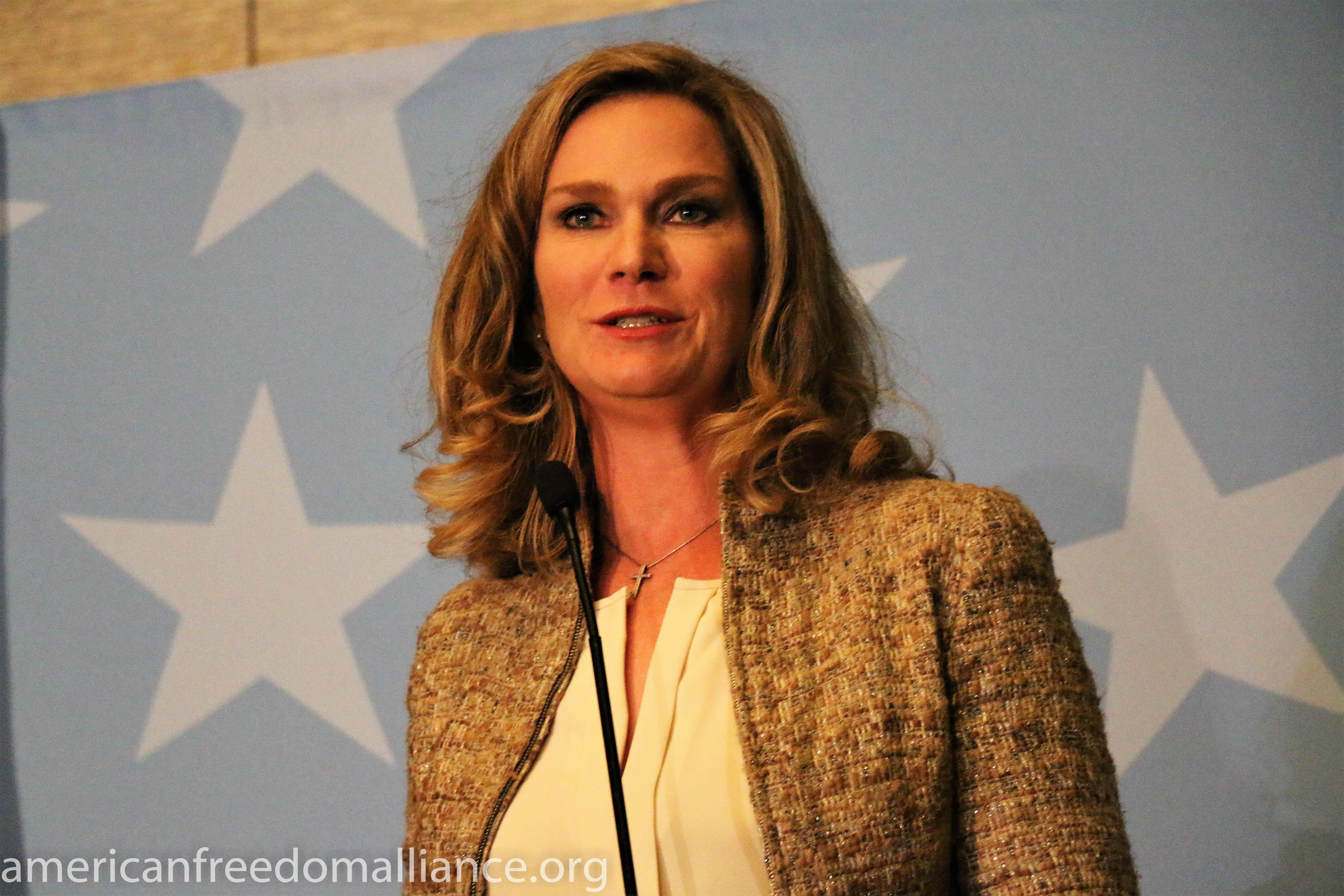 Catherine Engelbrecht at the Podium