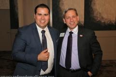 Candidates Omar Novarro and Mark Meuser