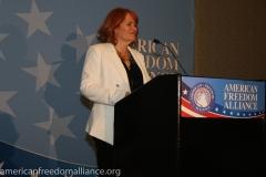 Dr. Karen Siegemund at the Podium