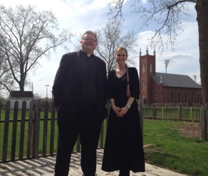 Cindy with Father Joshua Wagner