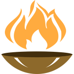 flames the indian cuisine logo