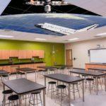 k-12 school ceiling acoustic tile ceiling art