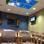 waiting room sky ceiling light