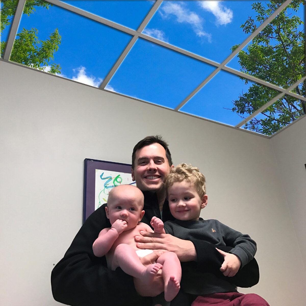 pediatric photographic ceiling panels